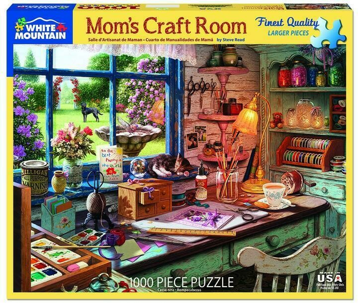 Mom's Craft Room - 1000 Piece Jigsaw Puzzle