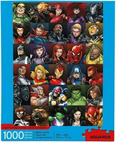 AQUARIUS Marvel Puzzle Superheroes (1000 Piece Jigsaw Puzzle) - Officially Licensed Marvel Merchandise & Collectibles
