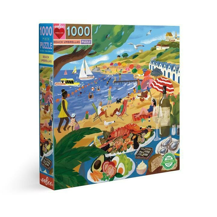 Beach Umbrellas 1000 Piece Puzzle