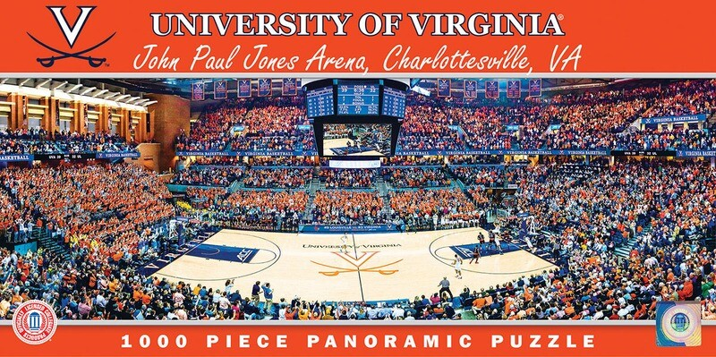 VIRGINIA CAVALIERS 1000 PIECE STADIUM (BASKETBALL) PANORAMIC JIGSAW PUZZLE