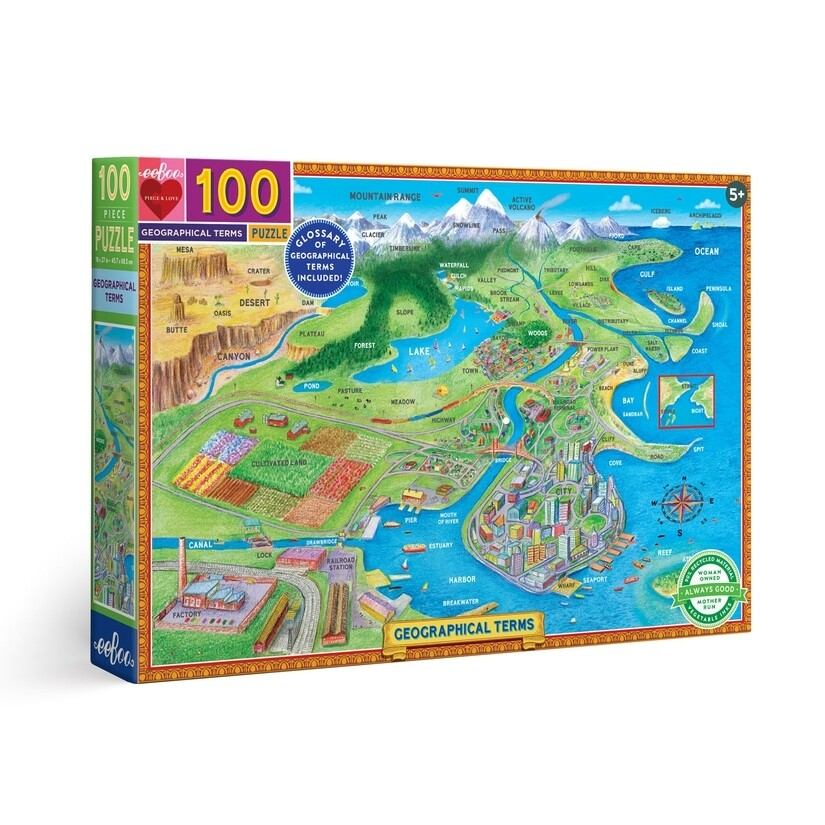 Geographical Terms 100 Piece Puzzle
