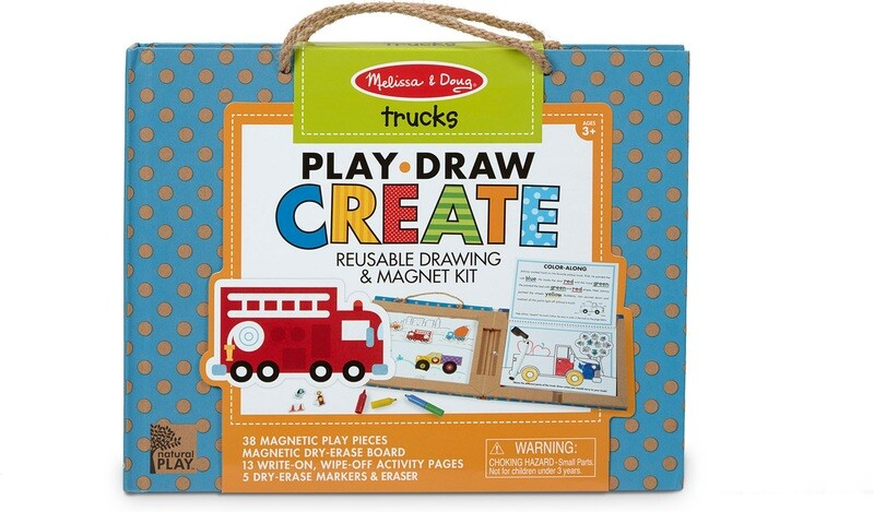 Melissa & Doug Natural Play: Play, Draw, Create – Trucks