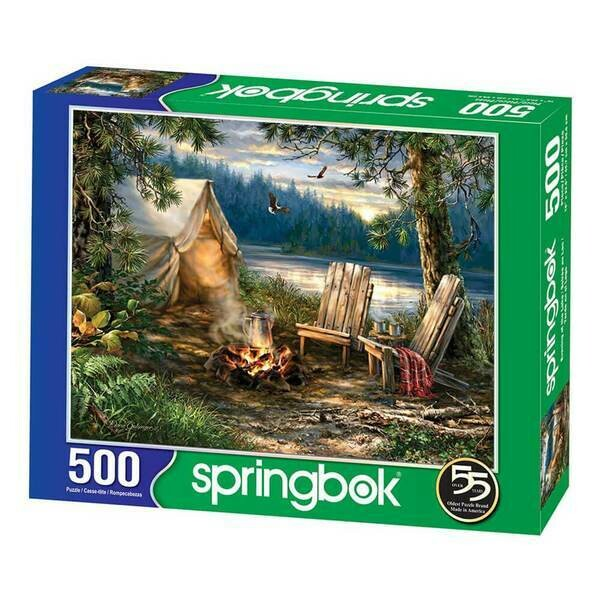 EVENING AT THE LAKE 500 PIECE JIGSAW PUZZLE