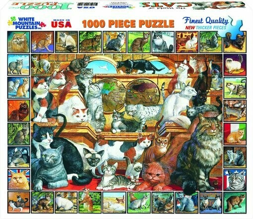 World of Cats- 1000 Piece Jigsaw Puzzle