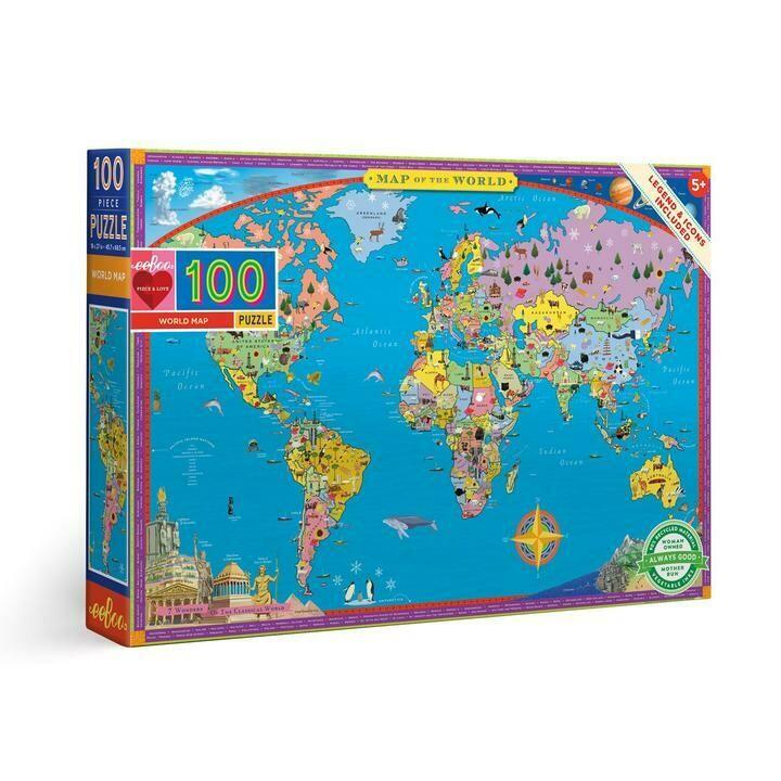 World Map 100 Piece Puzzle