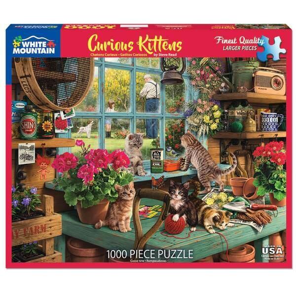 Curious Kittens- 1000 Piece Jigsaw Puzzle