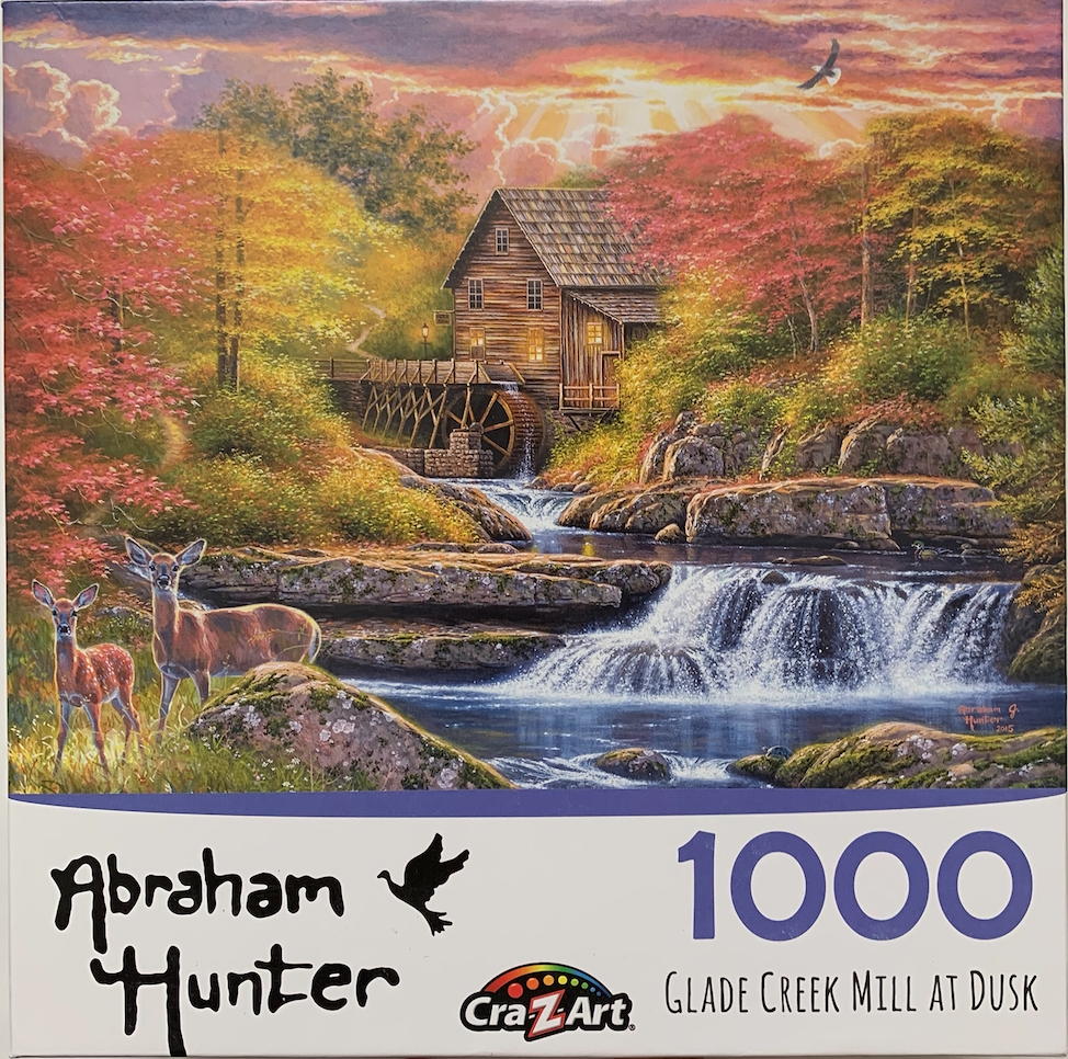 """Glade Creek Mill at Dusk"" 1,000 Piece Puzzle"