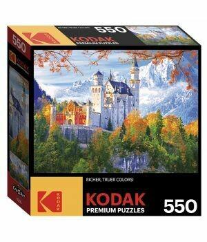 KODAK 550 PIECE PUZZLE - NEUSCHWANSTEIN CASTLE, BAVARIA, GERMANY
