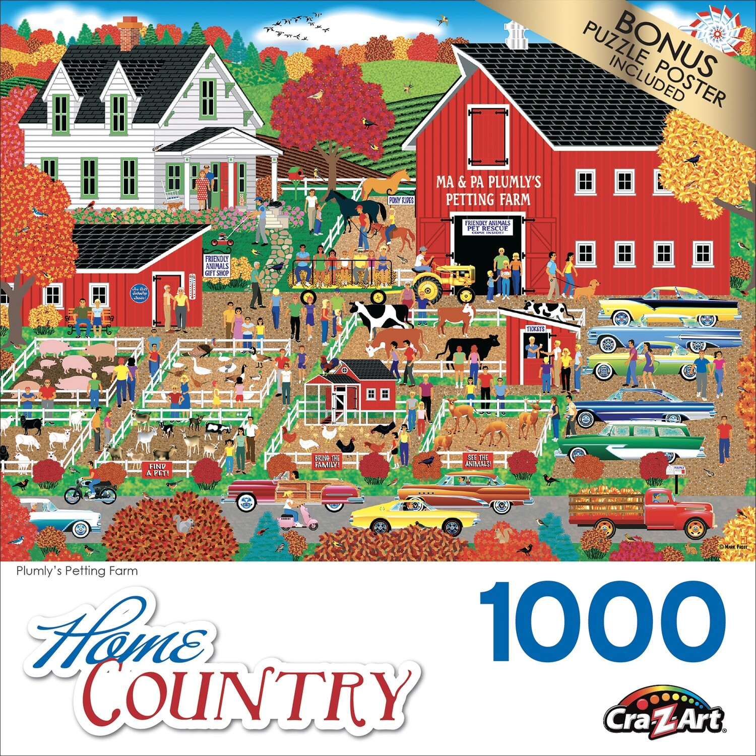 Cra-Z-Art Home Country 1000 piece Jigsaw Puzzle - Plumly's Petting Farm