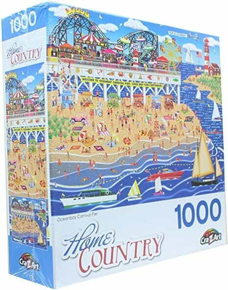 Oceanbay Carnival Pier, Home Country Collection 1000 Piece Jigsaw Puzzle by Artist: Mark Frost