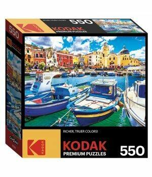 KODAK 550 PIECE PUZZLE - COLORFUL PROCIDA ISLAND AND BOATS, ITALY