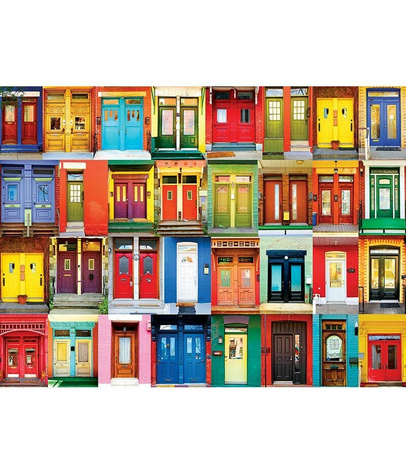 COLORFUL MONTREAL DOORS - 1000 PIECE