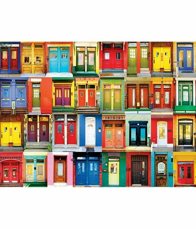 COLORFUL MONTREAL DOORS - 1000 PIECE