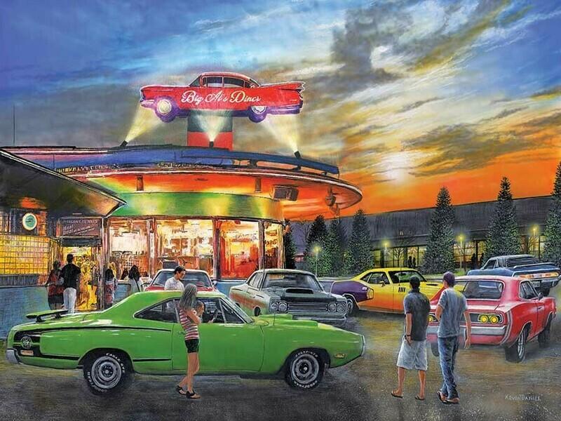 LPF Big AL's Diner 300 pc Jigsaw Puzzle by Artist: Kevin Danie