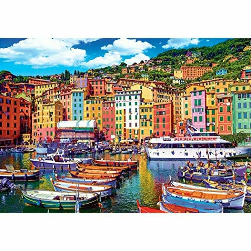 Kodak Premium Puzzles: Old Town Harbor of Camogli, Genoa, Italy 1500 Piece Jigsaw Puzzle