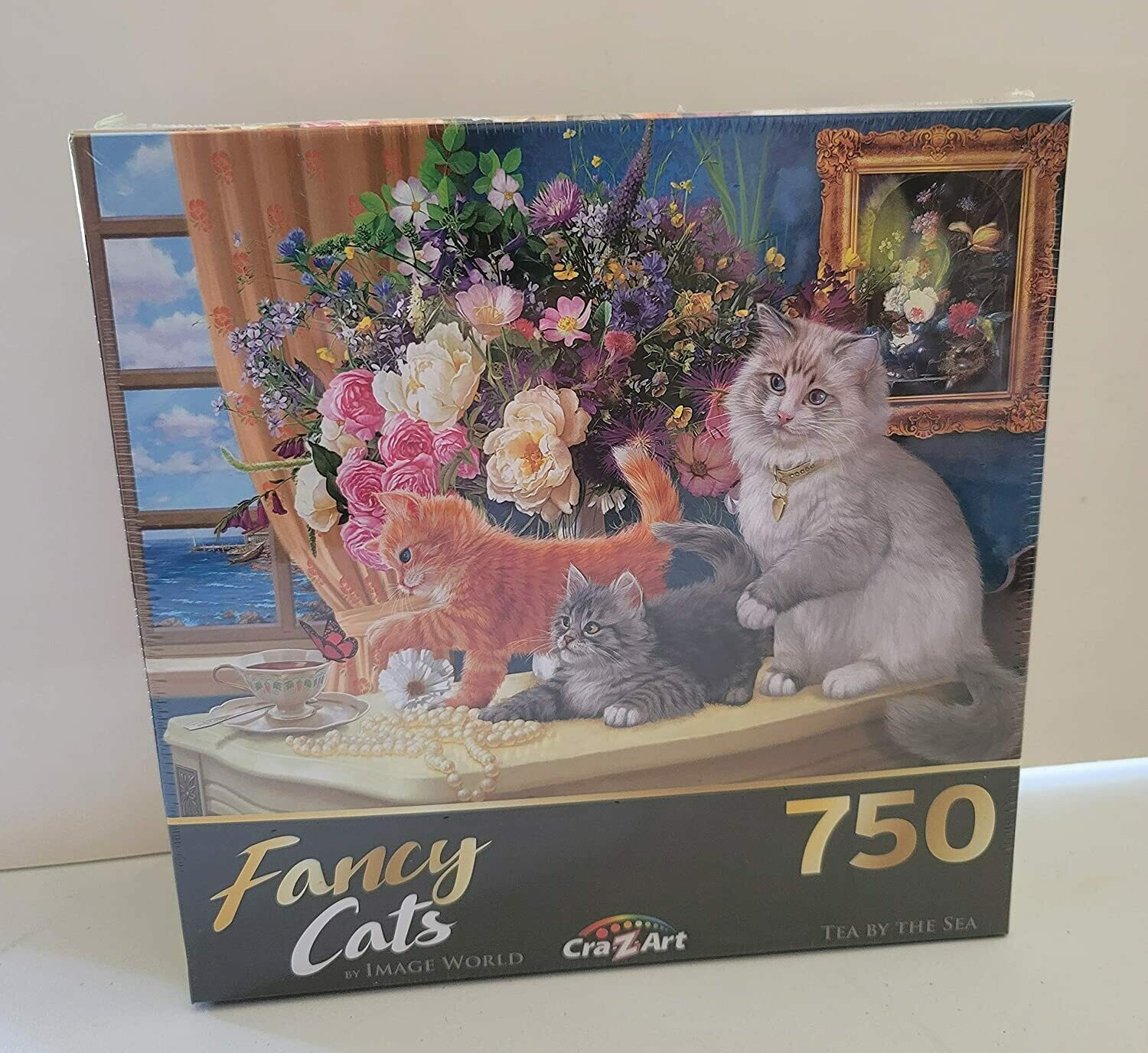 Fancy Cats 750 Piece Jigsaw Puzzle - Tea by The Sea