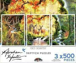 Forest Enchantment - 3x 500 Multipack Jigsaw Puzzle by Cra-Z-Art