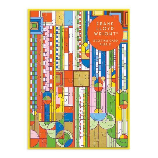 Frank Lloyd Wright Saguaro Forms & Cactus Flowers Greeting Card Puzzle