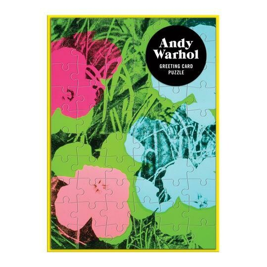 Andy Warhol Flowers Greeting Card Puzzle