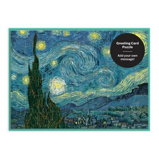MoMA Starry Night Greeting Card Puzzle