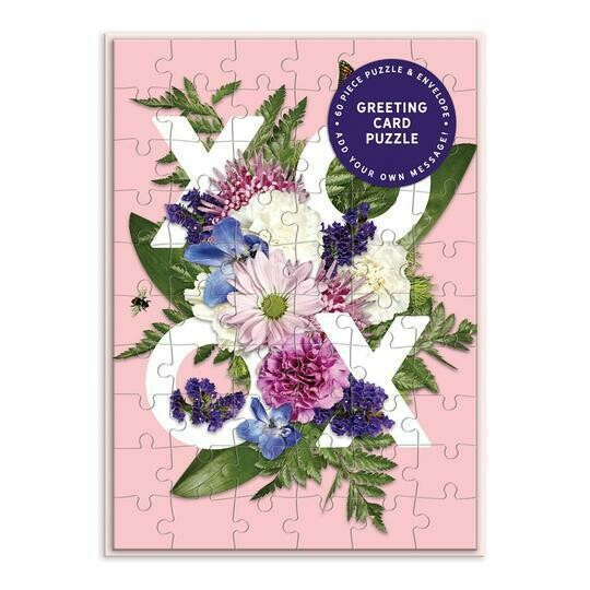 Say It With Flowers XOXO Greeting Card Puzzle