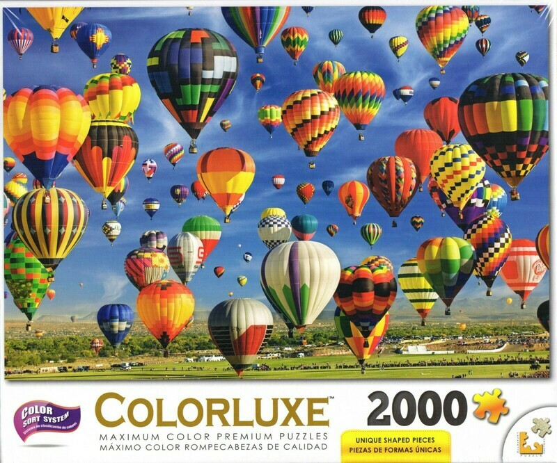 Colorluxe 2000 Piece Puzzle - Hot Air Balloon Mass Ascension