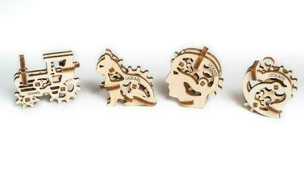 Fidget Tribiks 3D Wood Mechanical 4 Designs