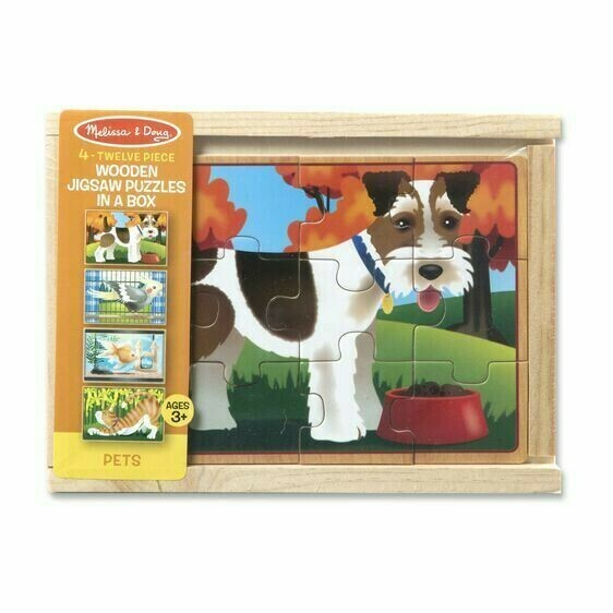 Wooden Pets 12 Pc X 4 In Box