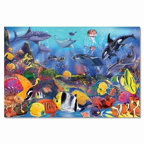 Underwater 48 Pc Floor