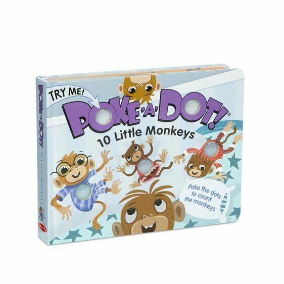 Poke A Dot 10 Little Monkeys Book