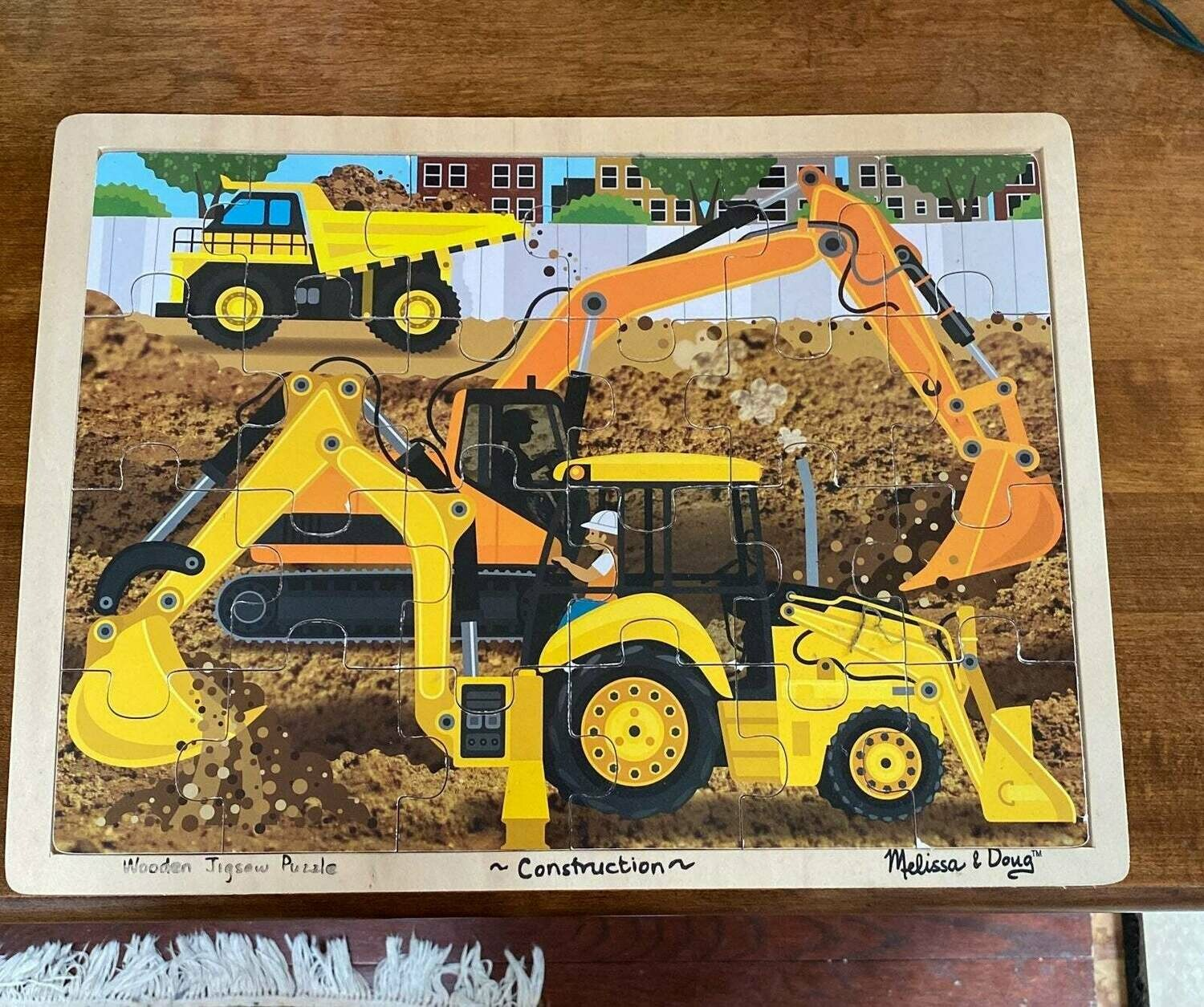 Diggers At Work 24 Pc Wooden