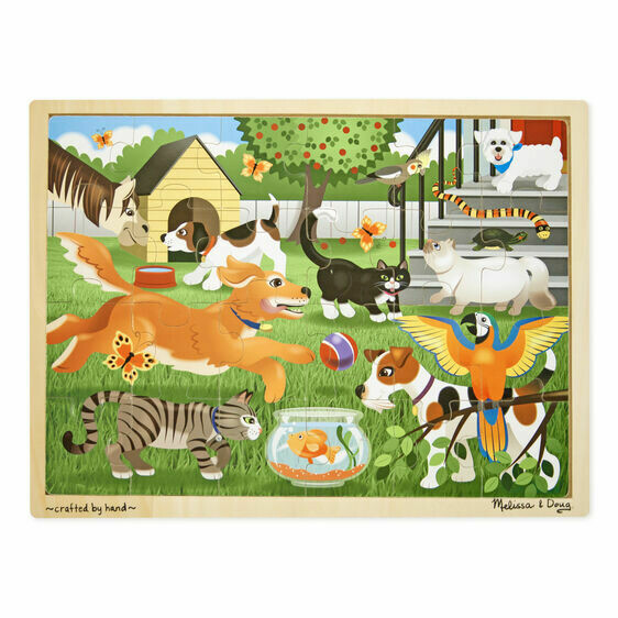 Pets 24 Pc Wooden Tray
