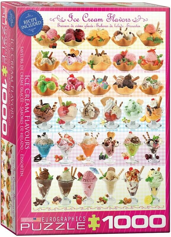 Ice Cream Flavors 1000 Pc