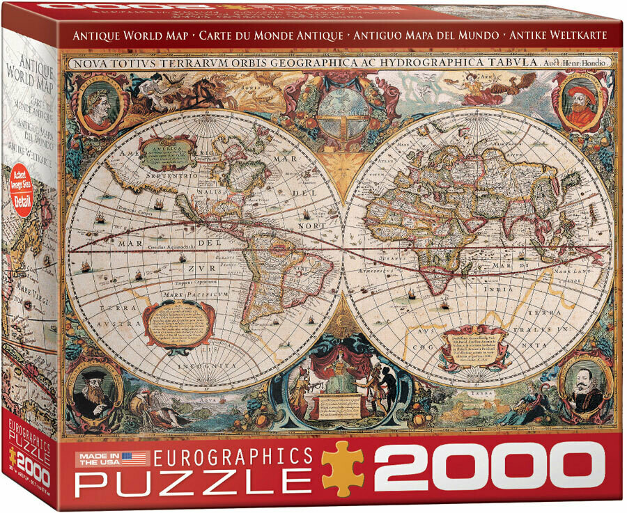 Antique World Map 2000 Pc
