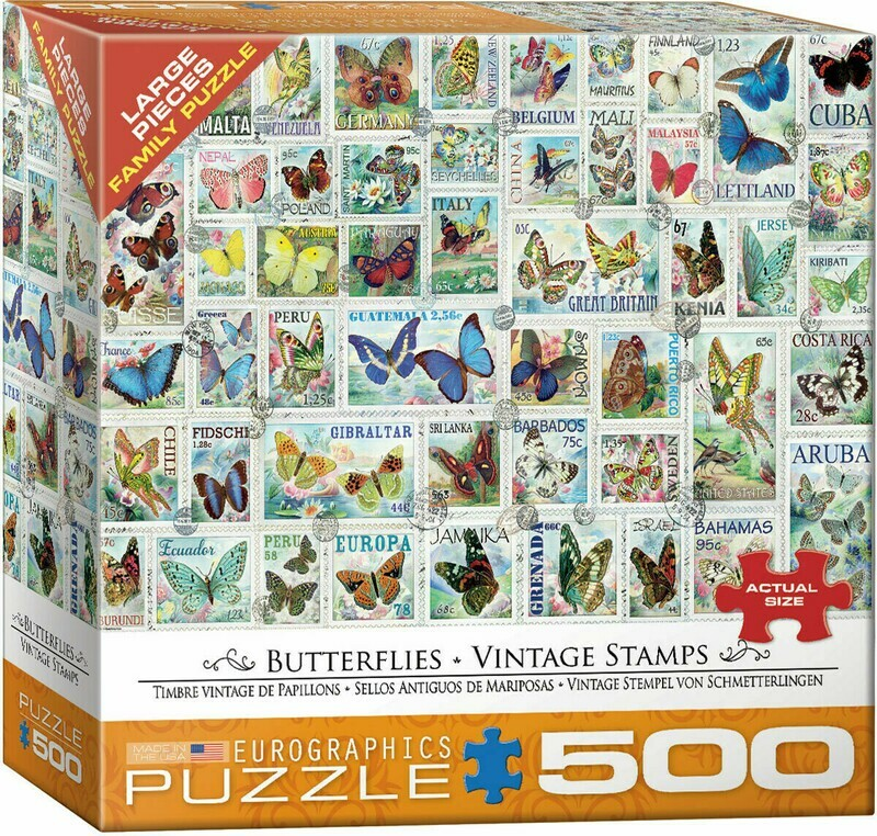 Butterflies Vintage Stamps 500 Pc