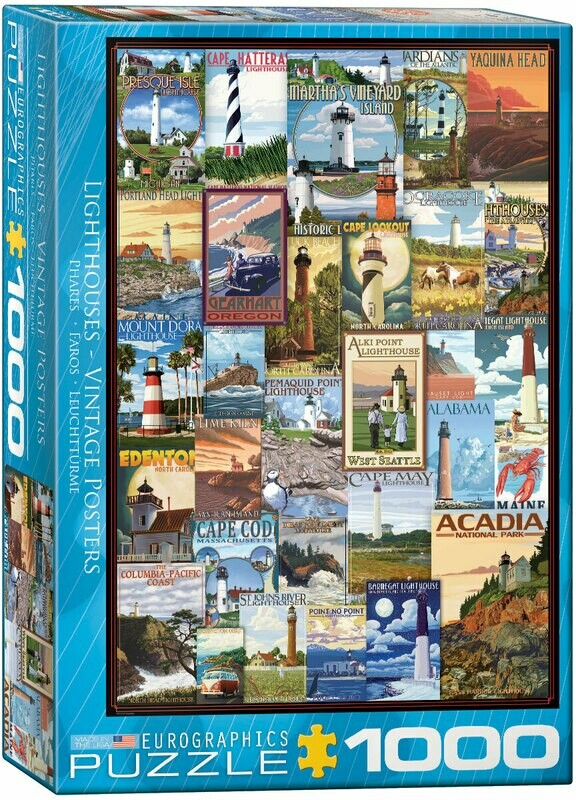 Lighthouses - Vintage Posters 1000 Pc