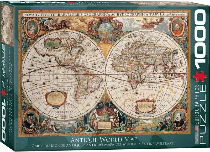 Antique World Map 1000 Pc