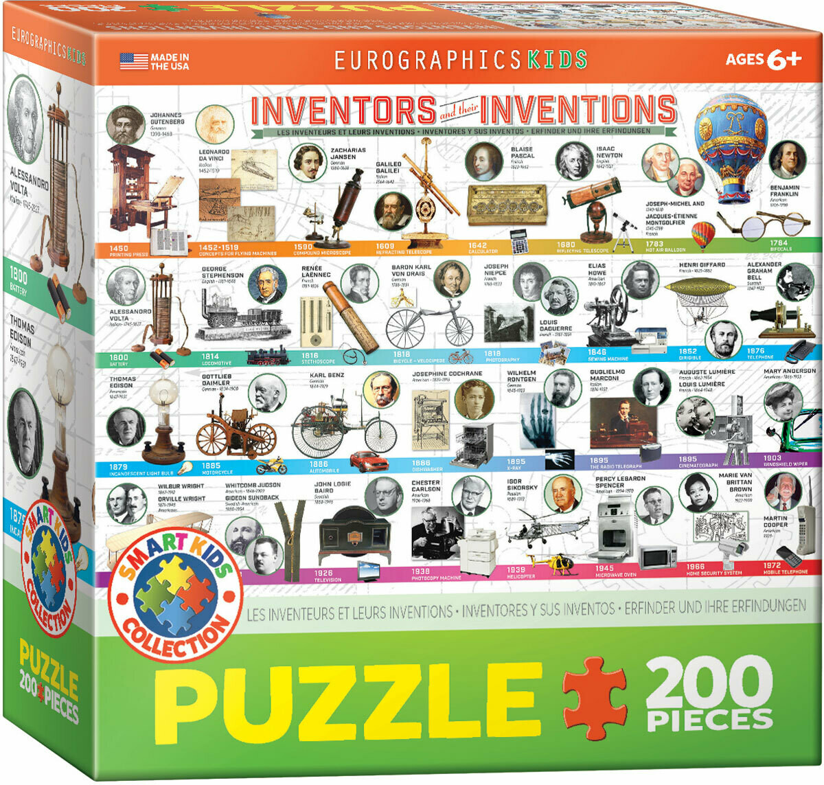 Inventors And Their Inventions  200 Pc