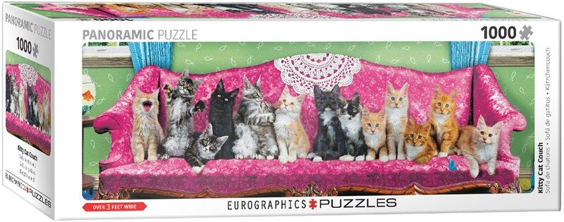 Kitty Cat Couch  Pano 1000 Pc