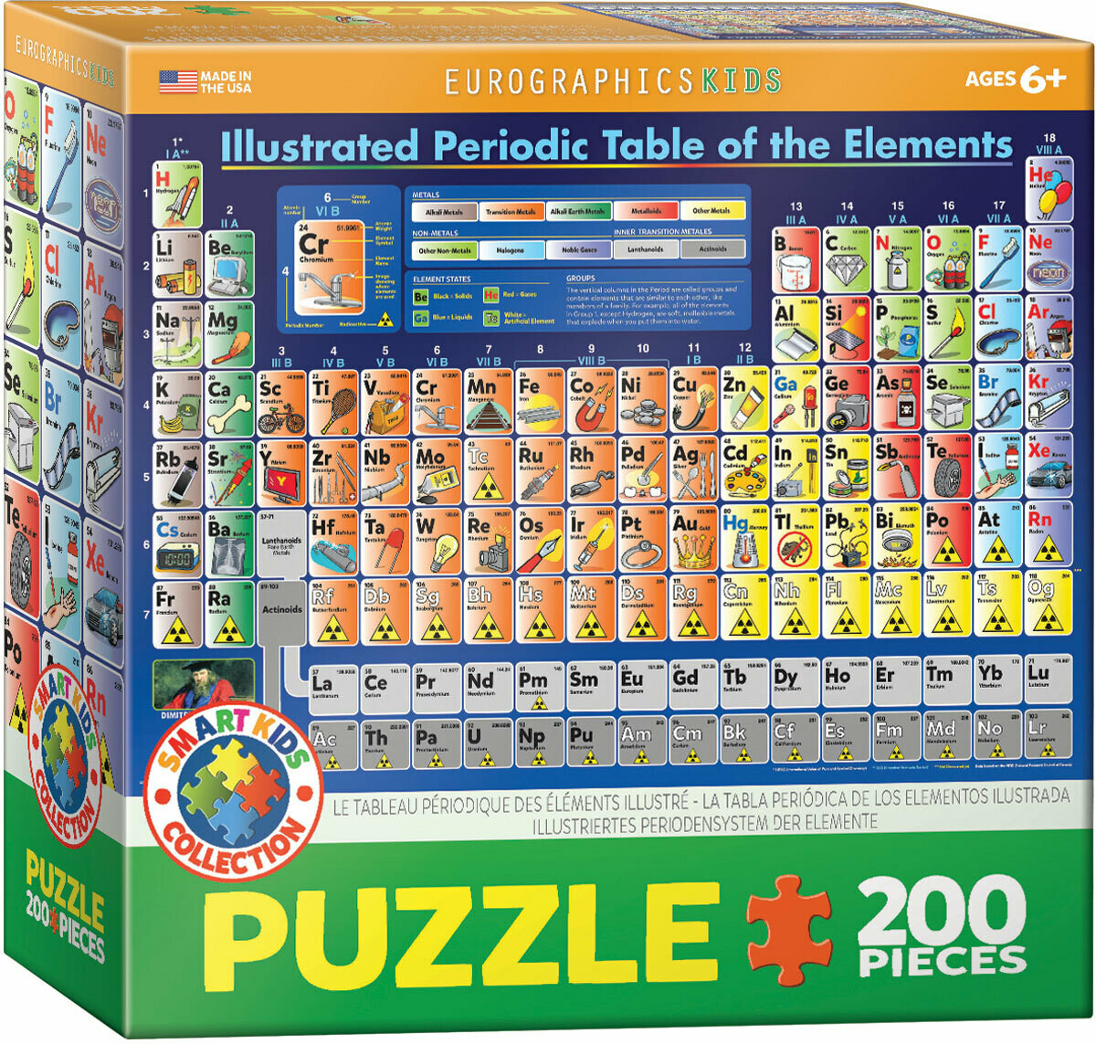 Illustrated Periodic Table Of The Elements  200 Pc