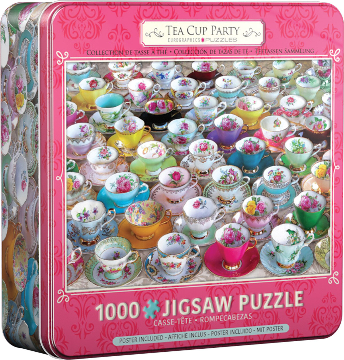 Tea Cup Party In Tin 1000 Pc
