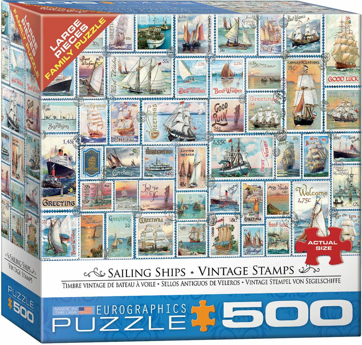 Sailing Ships - Vintage Stamps 500 Pc