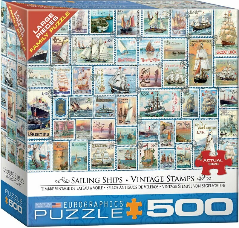 Sailing Ships - Vintage Stamps 500 Pc