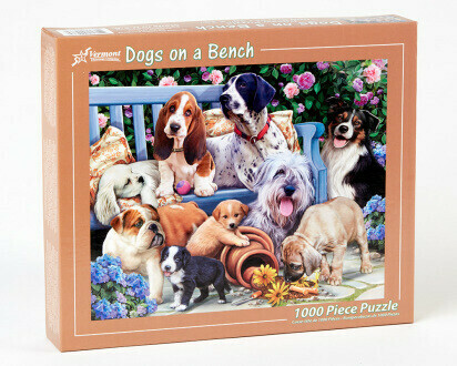 Dogs On A Bench 1000 Pc