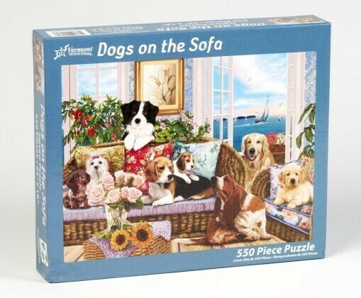 Dogs On The Sofa 550 Pc