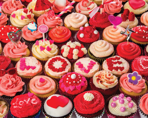 Cupcakes Of Love 1000 Pc