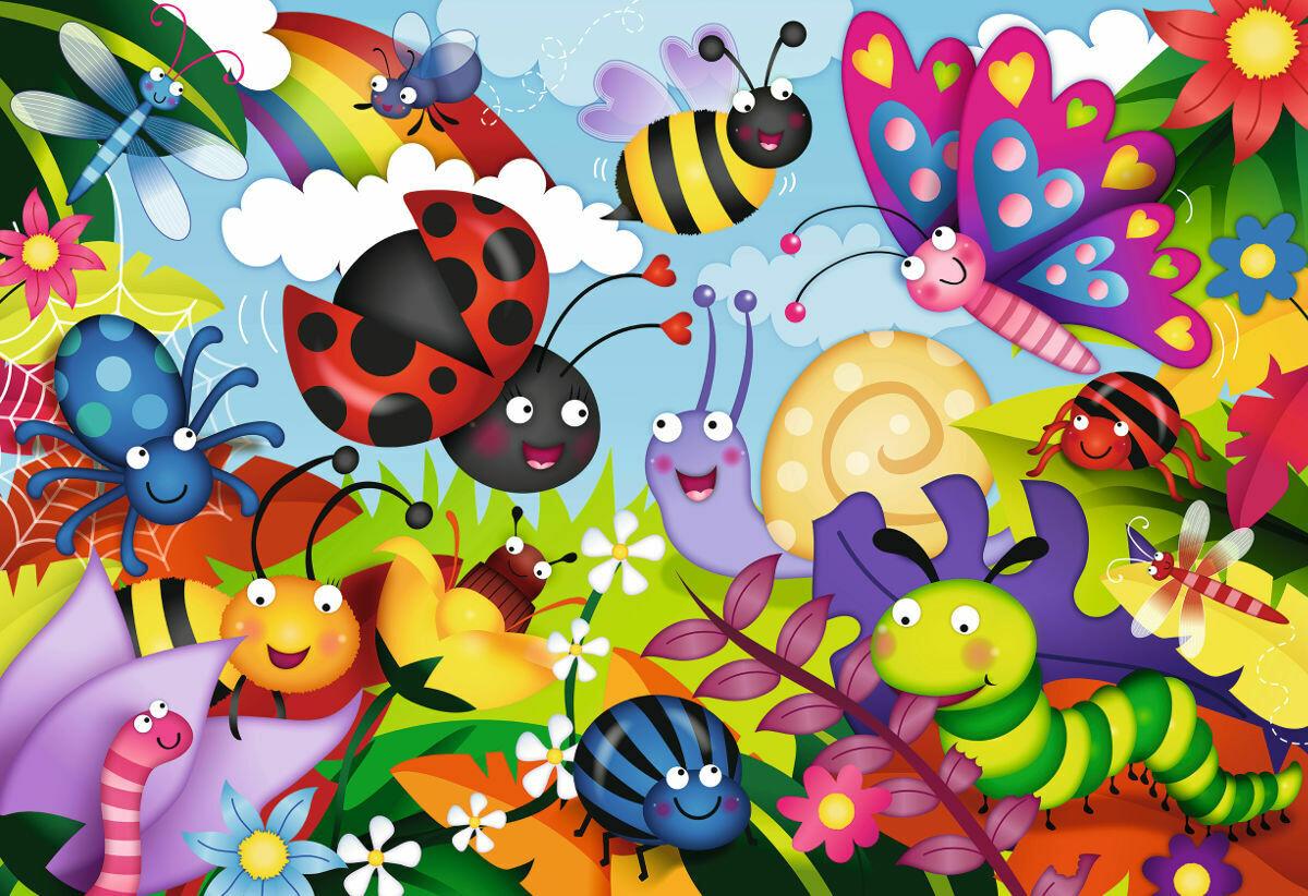 Cute Bugs 24 Pc Floor