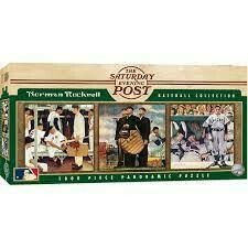 Saturday Evening Post Rockwell Baseball Collection 1000 Pc Pano