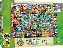 USA Map Of The National Parks 100 Pc