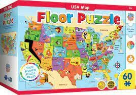 USA map Giant Floor Puzzle 80 Pc